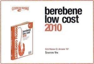 Arcano - BereBene Low Cost 2010 - Gambero Rosso