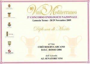 Arcano Riserva Vini del Mediterraneo 2009