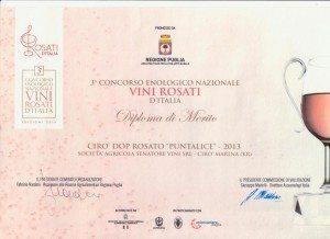 Puntalice - Diploma di Merito Vini Rosati d'Italia 2014