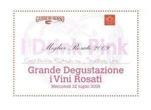 Foto Premio Puntalice - I Drink Pink 2009 - Gambero Rosso