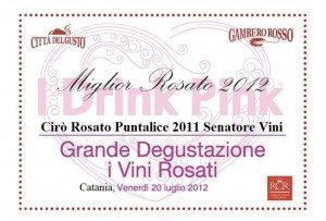 Puntalice - I Drink Pink 2012 - Gambero Rosso