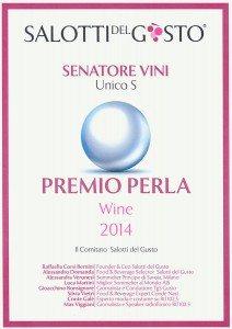 Unico Senatore - La Perla Salotti del Gusto - 2014