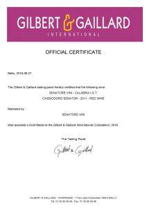 G&G-Gold-Medal-2016-CASSIODORO-SENATOR-2011